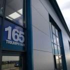 vinyl lettering Triumph 140x140 VINYL LETTERING FOR GLASS  LIVERPOOL
